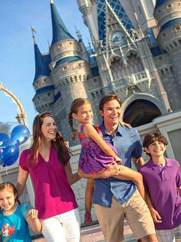 Disney en familia en el castillo de Cenicienta