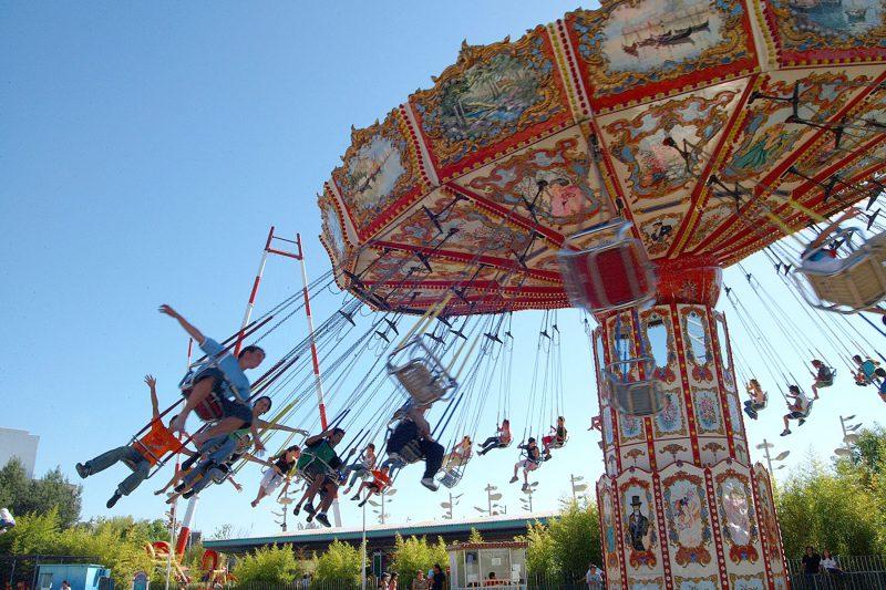 Parque de la Costa sillas voladoras