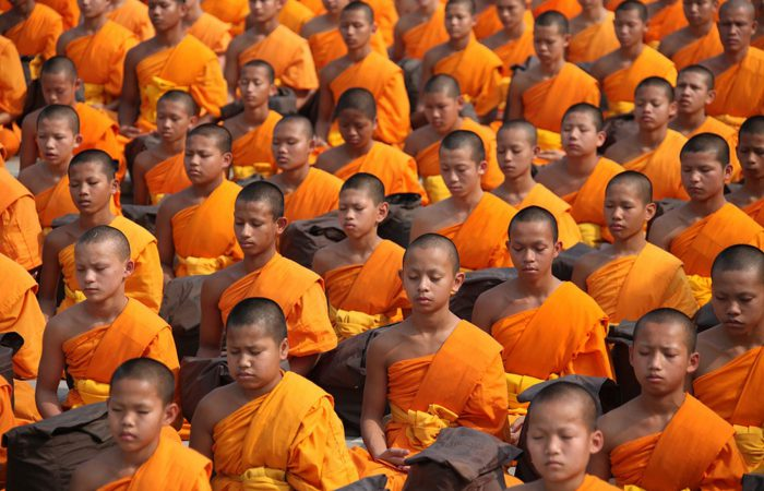 Tailandia monjes en Bangkok